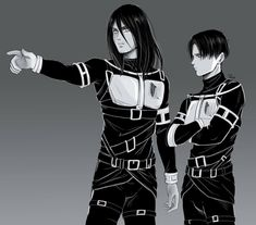 Eren Jaeger and Levi Ackerman Ereri, Eren E Levi, Attack On Titan Eren, Attack On Titan Ships, Attack On Titan Fanart, Levi Ackerman, 5 Anime, Anime Guys, Levi Squad