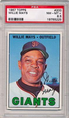 HALL OF FAMER Willie Mays 1967 Topps #200 Baseball Card PSA 8.5 NM-MT+