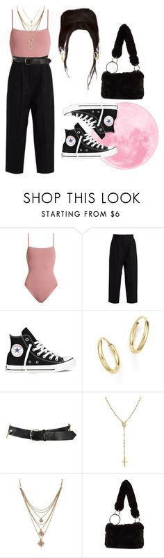 """""""13:29 pm"""" by georgia78 ❤ liked on Polyvore featuring Eres, Acne Studios, Converse, Bloomingdale's, Comme des Garçons, Bling Jewelry, Forever 21 and Topshop"""
