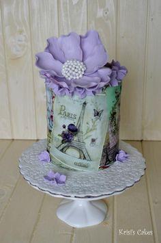 Vous aurez beau faire, vous n'anéantirez pas cet éternel res. Parisian Cake, Cake Paris, Paris Themed Cakes, Gorgeous Cakes, Pretty Cakes, Amazing Cakes, Girly Cakes, Fancy Cakes, Hand Painted Cakes