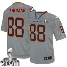 Demaryius Thomas Game Jersey-80%OFF Nike Lights Out Demaryius Thomas Game Jersey at Broncos Shop. (Game Nike Men's Demaryius Thomas Lights Out Grey Super Bowl XLVIII Jersey) Denver Broncos #88 NFL Easy Returns.