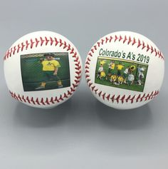 Customized double side print baseballs with the team photo on one side and individual on the other! Perfect end of season gift for the players! Teammates can even sign each other's baseball! Baseball Gifts, Sports Gifts, Baseball Mom, Team Mom, Team Photos, Coach Gifts, Personalized Gifts, Sign, Team Pictures