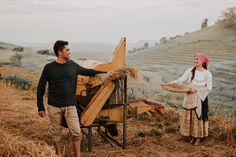 This Couple's Engagement Shoot Depicts the Simple Filipino Life and We Love It! Wedding Shoot, Wedding Themes, Wedding Blog, Wedding Decor, Dream Wedding, Philippines Dress, Philippines Culture, Filipiniana Wedding Theme, Prenuptial Photoshoot
