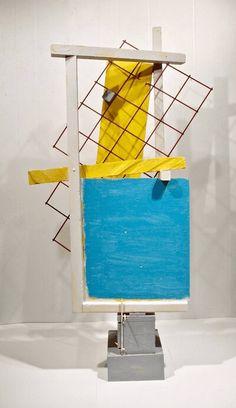 Blue and Yellow Rhythm Sculpture Online Art, Artwork Online, Original Paintings, Original Art, Wood Sculpture, Wood And Metal, Contemporary Artists, Painting On Wood, Wood Art