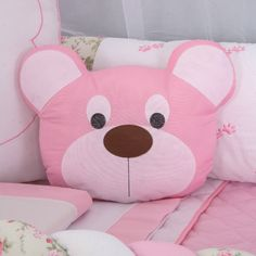 Kids Pillows, Throw Pillows, Baby Girl Bedding, Wood Slice Crafts, Diy And Crafts, Crafts For Kids, Animal Sewing Patterns, Baby Embroidery, Felt Toys