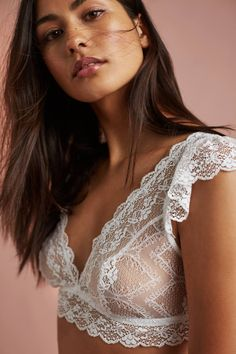 Eberjey Kiss Flutter-Sleeve Bralette | Anthropologie