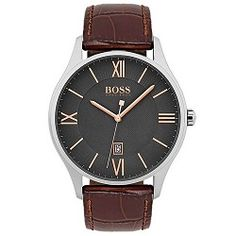 d9d1b8bd1f92a Relógio Hugo Boss Masculino Couro Marrom - 1513484