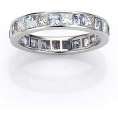 Angara Princess Cut Diamond Channel-Set Band in Yellow Gold