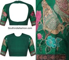 Bird Embroidered Blouse Designs photo