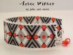Julie Ann Smith Designs AZTEC WINTER Beadweaving Bracelet