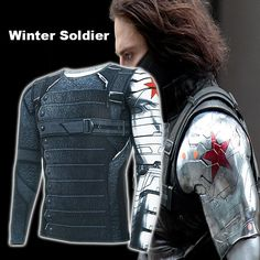 Find More T-Shirts Information about Halloween Costumes Winter Soldier Avengers 3 Compression T Shirt Men Long Sleeve Fitness Tee Male Clothing Tops,High Quality t-shirt silk,China t-shirt cat Suppliers, Cheap clothing quality from Zomarzz Superhero Store on Aliexpress.com