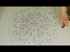 Stempel-Mandala :: Ulrike Hirsch - YouTube