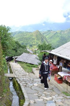 People in Cat Cat village Sapa