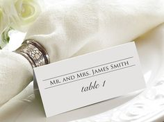 Simple Tented Wedding Escort Cards  by GrandDesignsbyJoanna, $25.00