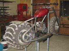 Got a Briggs and Stratton. - : and Off-Road Forum Mini Motorbike, Trike Motorcycle, Homemade Motorcycle, Hot Rod Pickup, Diy Go Kart, Mini Chopper, Motorised Bike, Drag Bike, Pit Bike