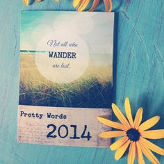 2014 Calendar . mini calendar . desk calendar . by joystclaire, $19.00 nature photography, modern vintage art , farmhouse chic, quotes