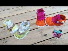 Sandales bébé crochet très facile 1/2 / Crochet Baby sandals very easy - YouTube