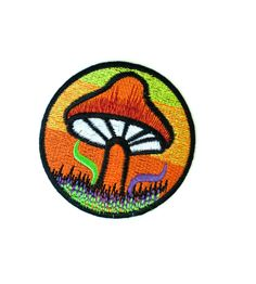 Psychedelic Mushroom Iron-on Patch