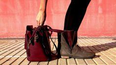 botas marrones y burdeos de la marca mustang