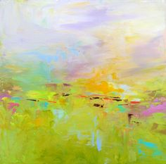 Abstract Landscape 'Good Morning Beautiful' by SallyKellyPaintings, $90.00