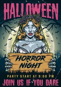 Colorful Halloween Night 2021 Poster Vector Design. Find awesome Halloween designs on our website.
