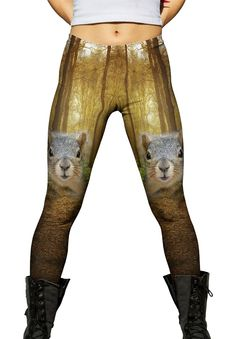 Yizzam- Squirrel -New Ladies Womens Leggings XS S M L XL 2XL 3XL 4XL