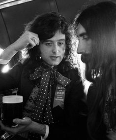 Jimmy Page of Led Zeppelin aboard the band's private jet #JimmyPage #LedZeppelin…