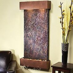 Indoor wall fountains are a delightful way to greet visitors to your office. Browse indoor wall water features and water fountains to add distinction to your decor. Indoor Wall Fountains, Indoor Fountain, Water Fountains, Bamboo Fountain, Indoor Water Features, Medical Office Decor, Deco Zen, Tabletop Fountain, Table Vintage
