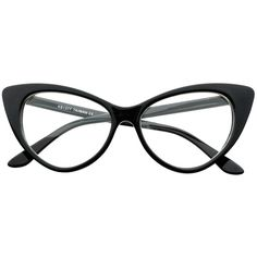 13f114f606 Tip Pointed Clear Lens Retro Style Cat Eye Glasses Frames c10 ( 19) ❤ liked