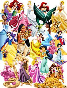 Princess Image, Princess Cutouts, 23 Pages,Large Full Page Character,Favorite…