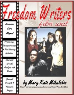 """I love teaching this """"Freedom Writers"""" unit at the end of the year. Includes some great writing exercises to get students to express themselves and think about some important themes."""