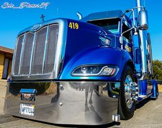Peterbilt 386, Peterbilt Trucks, Chevy Trucks, Custom Big Rigs, Custom Trucks, Big Rig Trucks, Warriors, Chrome, Memories