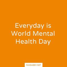 'Every day is World Mental Health Day' - Think about it why should we need a day to simply talk about mental health. EVERYDAY should be this day.  It's #WorldMentalHealthDay a day that the world comes together to show support and awareness to Mental Health.  We hope you join us and become a Fandabby Warrior by following our cause    All profits from our clothing are donated to @RethinkMentalIllness and @YoungMindsVS  #MentalHealth #MentalWellness #Anxiety #Adhd #Ana #Anorexia #Bipolar…
