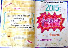 2015 Inspired Word of the Year Art Journal Page -- The Peaceful Mom