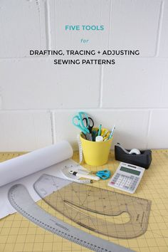 Favourite Tools for Drafting, Tracing and Adjusting Sewing Patterns - Tilly and… Sewing Basics, Sewing Hacks, Sewing Tutorials, Sewing Crafts, Sewing Projects, Sewing Patterns, Sewing Ideas, Dress Patterns, Sewing Stitches