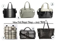 Luxe diaper bags. Some might even live on after the baby is out of diapers.