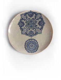 Kunst Wand Keramik Teller Plate Kunst Objekt von KunstLABor auf Etsy