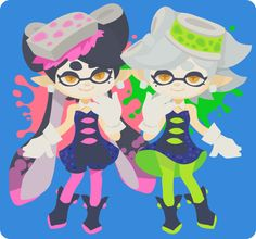 squid sisters by rizuNM on twitter