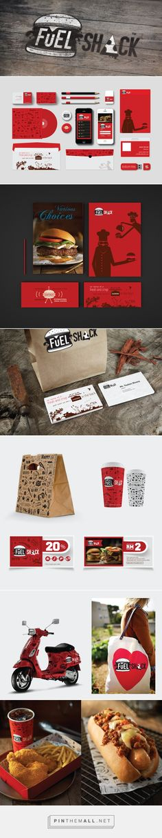 Fuel Shack Burger Bar packaging branding on Behance by Agata Dondzik curated by Packaging Diva PD. Hungry now : )