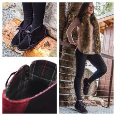 Shop the Aalto Chukka Boot for every occasion. Aalto Chukka Boots in Black & Red Ruby for $139.97 from KURU Footwear. Cute women's outfit for chukka boots. #bootseason #chukkaboots #chukkaoutfit