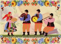 "Polish Art Center - ""Celebrating The Harvest"" Note Card And Envelope"