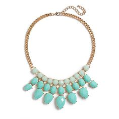 Junior BP. Faceted Bead Statement Necklace ($24) ❤ liked on Polyvore