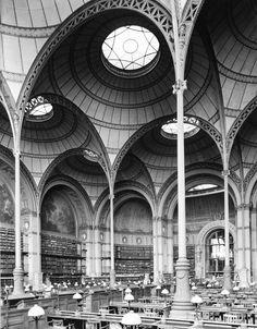 Salle de Travail,Bibliothèque Nationale (National Library)Paris, France. Henri Labrouste, 1862-1868