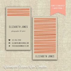 Loving these retro/modern business cards from FancySchmantzy's etsy shop.