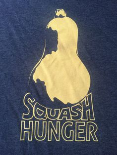 SQUASH HUNGER Funny Humor Witty Vegetable Pun by QueenBeetDesigns