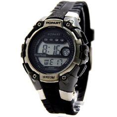 DW321B Dark Gray Watchcase Chronograph Alarm PNP Matt Silver Bezel Digital Watch