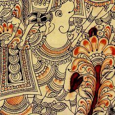 Kalamkari Nandi (the bull) painting