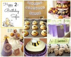 Project Nursery - Winnie the Pooh Birthday Party Collage