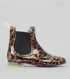 Stone Leopard Print Chelsea Wellies | New Look