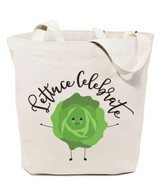 Take a look at this Natural 'Lettuce Celebrate!' Tote today!